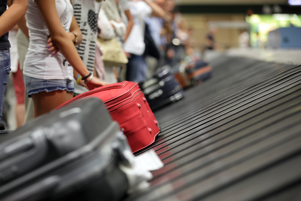 Luggage Conveyor Belt at Airport