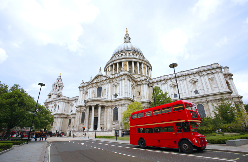 Routemaster Bus and St Paul's Cathedral